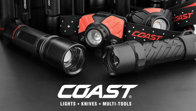 Coast LED Flashlights, Knives and Multi-Tools