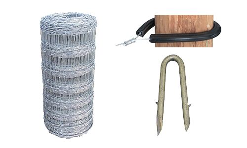 Fencing - Wire, Staples, Tube Insulators