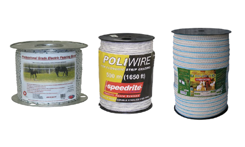 Fencing - Poly-Wire Poly-Rope, Poly-Tape